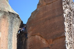 Rock Climbing Photo: sarah's victory on Not My Cross to Bare, Penitente