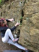 Rock Climbing Photo: Bump out right.