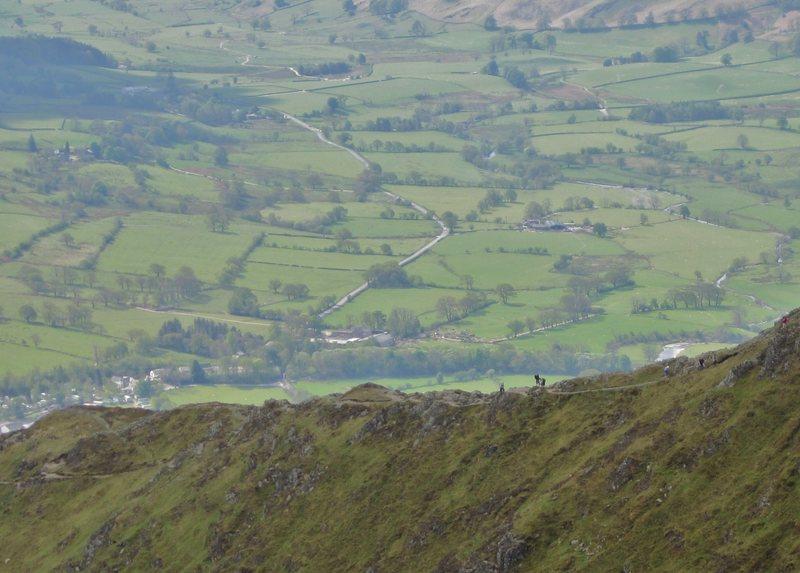 Hikers on the Halls Ridge ... Blancathra Mt 15th May 2016