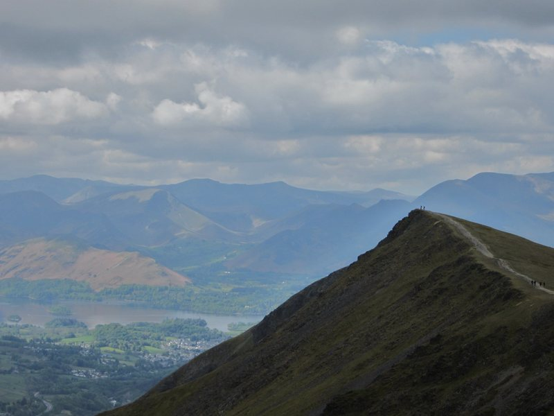 Looking west from the summit of Blencathra Mt