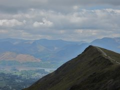 Rock Climbing Photo: Looking west from the summit of Blencathra Mt