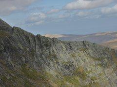 Rock Climbing Photo: Sharp Edge a rocky ridge on Blencathra