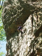 Rock Climbing Photo: Looking up at the business