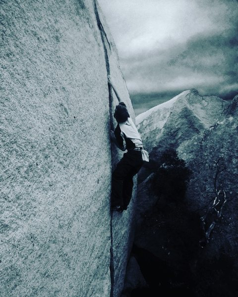 Rock Climbing Photo: Splitter!!!!