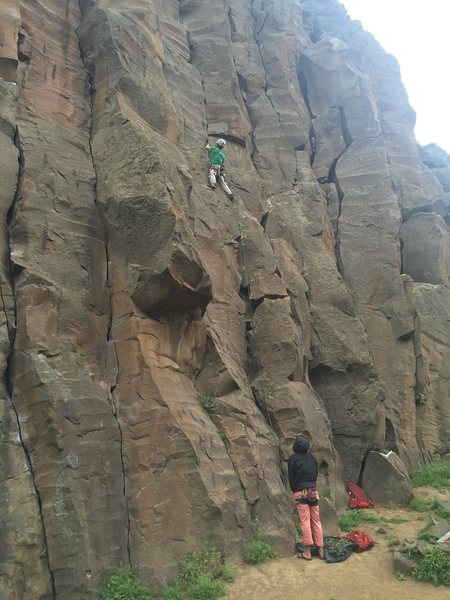 Rock Climbing Photo: James leading Othello