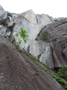 Rock Climbing Photo: Looking up towards The Filibuster corner of Right ...