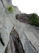 Rock Climbing Photo: Looking up The Filibuster corner from the base of ...