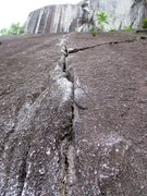 Rock Climbing Photo: The start of the 5.8 crack system that forms Eagle...