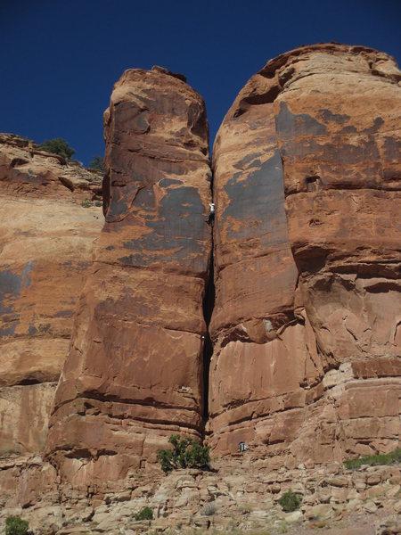 Rock Climbing Photo: Joseffa Meir follows the FA of 'Broke Dick (5.11) ...