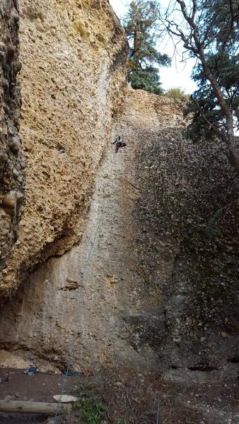 Rock Climbing Photo: Joi Matsukawa on Baby Gap, 5.4