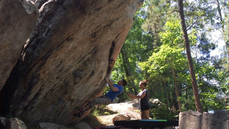 Rock Climbing Photo: Getting the fist ascent of Rock Till You Drop Sit ...