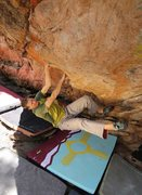 Rock Climbing Photo: Great roof bouldering at 106 Roof near Vallecitos,...