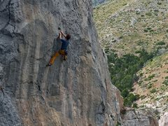 Rock Climbing Photo: Just after the crux section.
