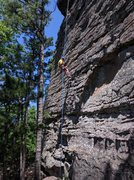 Rock Climbing Photo: Robert rappels off Fun Way