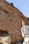 Rock Climbing Photo: Fun lead on cool features.