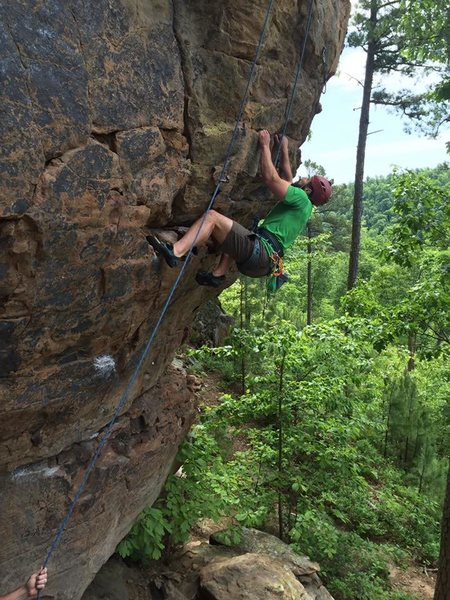 Rock Climbing Photo: Michael is hoping beyond hope that the next hold i...