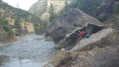 Rock Climbing Photo: Perfect setting and climb!