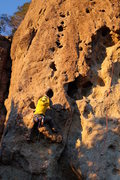 Rock Climbing Photo: Lower crux at the first bolt that gives the PG/ PG...