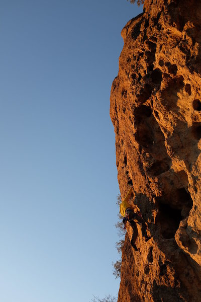 Rock Climbing Photo: Just a cool shot, goin up the ladder, tryin' to ke...