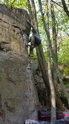 Rock Climbing Photo: Tricky one.