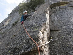 Rock Climbing Photo: Pitch 16 off Turret notch. This is where you go le...