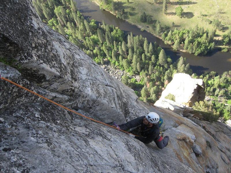 Rock Climbing Photo: Pitch 17 - 10c.