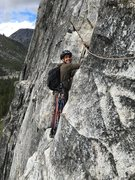 Rock Climbing Photo: Adam- first day trad climbing or using an ATC. Did...