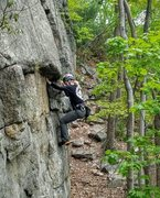 Rock Climbing Photo: Just past the first tricky part and just before th...