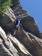 Rock Climbing Photo: Craig Plescia - Summer 2015  Wedging in there for ...