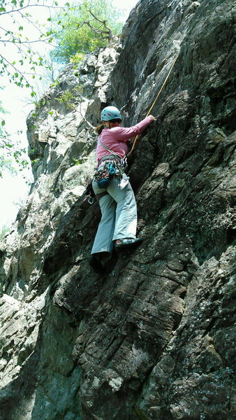 Rock Climbing Photo: low on the route