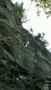 Rock Climbing Photo: Nancy on touche