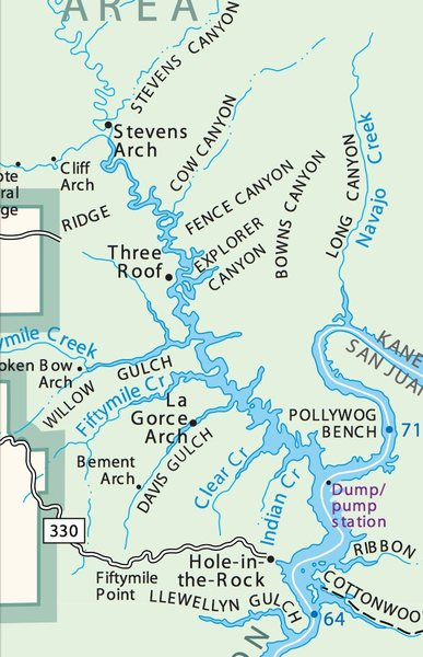 Glen Canyon NRA Area Map via National Park Service