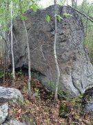 Rock Climbing Photo: Swamp Boulder's South face.
