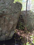 Rock Climbing Photo: Swamp Boulder - it's actually two boulders.