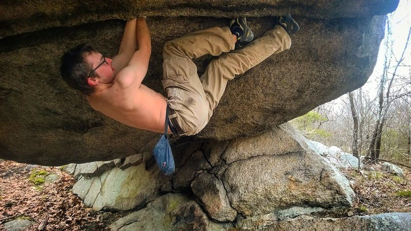 Rock Climbing Photo: Me, experimenting and figuring out you can't make ...