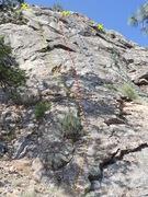 Rock Climbing Photo: The Ledge - Left Side topo