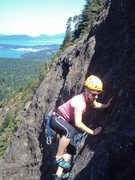 Rock Climbing Photo: First lead on Prime Time, Mt Erie