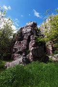 Rock Climbing Photo: Yellow Lichen Buttress