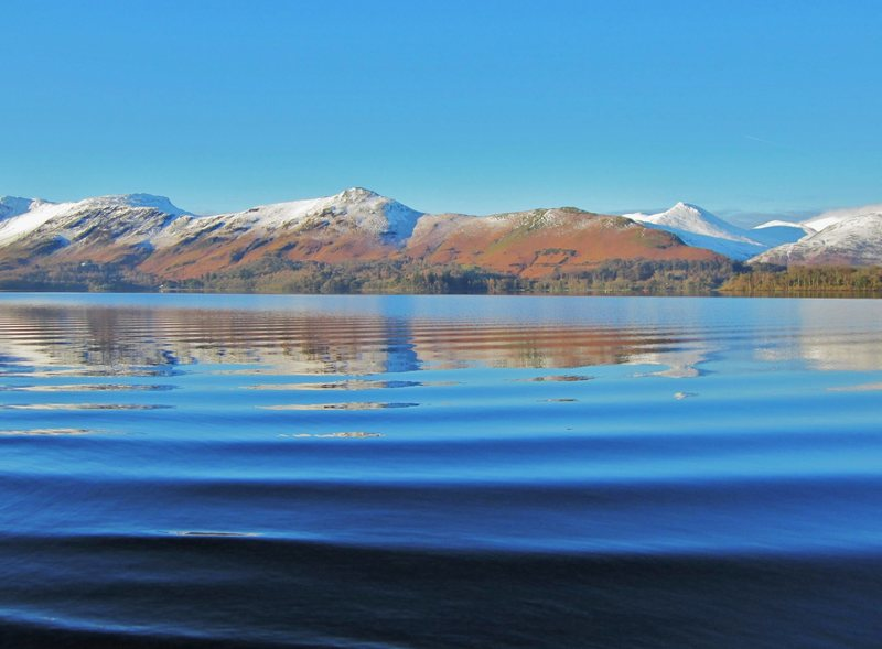 Catbells in Winter from Derwentwater Lake