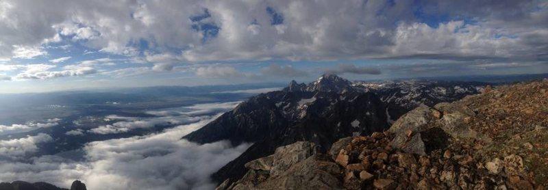 Rock Climbing Photo: Mt. Moran Summit on Day One