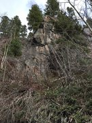 Rock Climbing Photo: Wasatch Trail Wall. It has a 5.11+ route which is ...