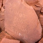 Rock Climbing Photo: Disgraceful!! These are the people who etch their ...