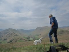 Rock Climbing Photo: On Hallin Fell . Hill above the village of Howtown