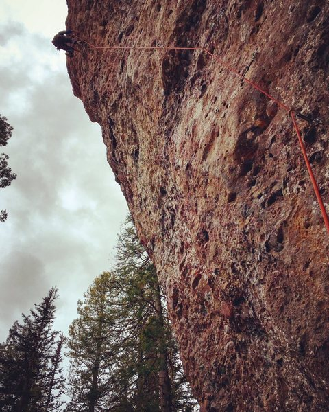 The  5.13b route at the main wall.