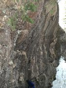 Rock Climbing Photo: The backside of the main wall. There are some cool...