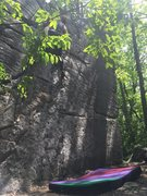 Rock Climbing Photo: This is looking up the hill with a nice little sho...