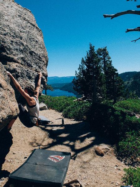 Bouldering in Tahoe