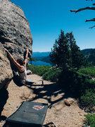 Rock Climbing Photo: Bouldering in Tahoe