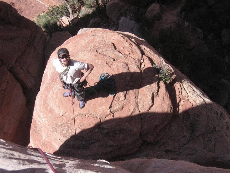 Rock Climbing Photo: start of bolt ladder after WIDE OW
