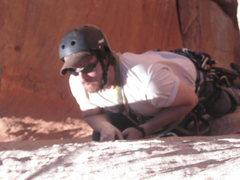Rock Climbing Photo: Ol Wiesmann on the bolt ladder
